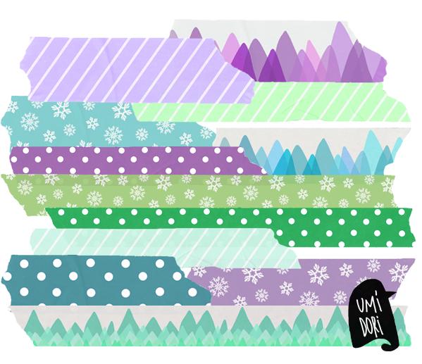 Washitape digital invierno Umidori