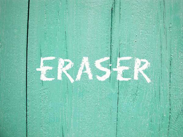 Tipografía Eraser