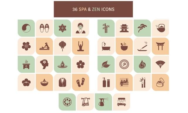 spa-zen-icon-set